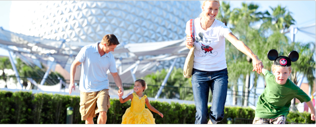Family Rushing into Epcot
